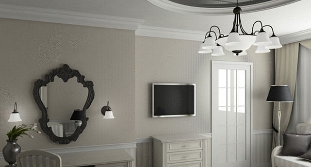 cornici in gesso per pareti moderne